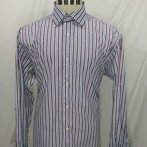 David Donahue Mens Dress Shirt Size Large 16 1/2